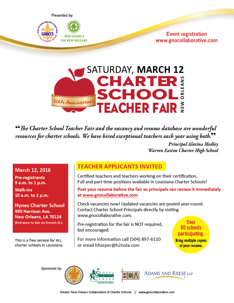 10th Annual Charter School Teacher Fair The Brylski Company A